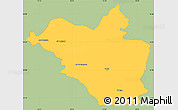 Savanna Style Simple Map of Wasit, single color outside