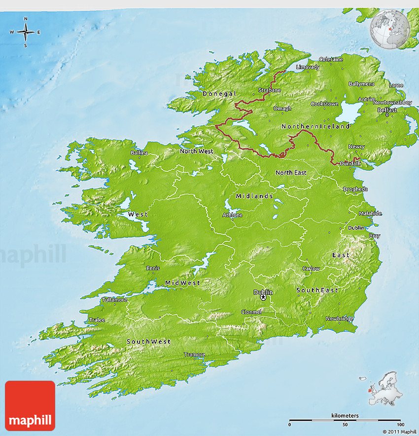 Map Of Ireland 3d.Physical 3d Map Of Ireland