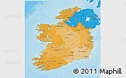 Political Shades 3D Map of Ireland