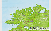 Physical 3D Map of Donegal