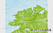 Physical Map of Donegal
