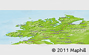 Physical Panoramic Map of Donegal