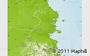 Physical Map of Dublin