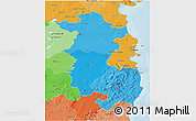 Political Shades 3D Map of East