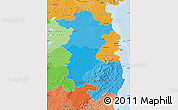 Political Shades Map of East