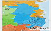 Political Shades Panoramic Map of East