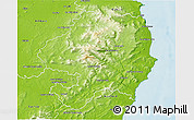 Physical 3D Map of Wicklow