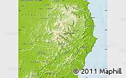Physical Map of Wicklow