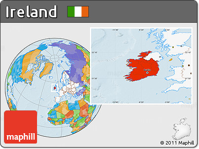 Free political location map of ireland highlighted continent highlighted continent political location map of ireland highlighted continent gumiabroncs Gallery