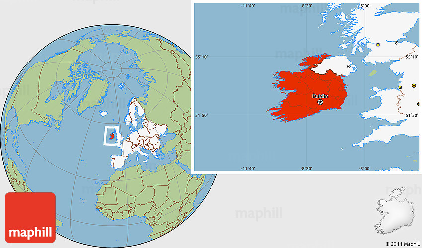 Savanna style location map of ireland highlighted continent westnortheast gumiabroncs Gallery