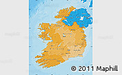 Political Shades Map of Ireland