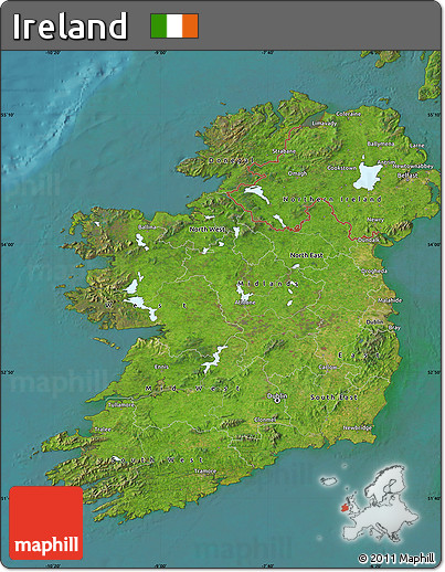 Satellite Map Of Ireland.Free Satellite Map Of Ireland