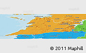 Political Panoramic Map of Clare