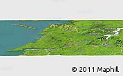 Satellite Panoramic Map of Clare