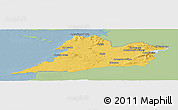 Savanna Style Panoramic Map of Clare, single color outside