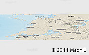 Shaded Relief Panoramic Map of Clare