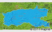 Political 3D Map of Limerick, satellite outside