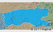 Political 3D Map of Limerick, semi-desaturated