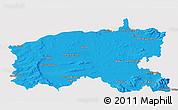 Political 3D Map of Limerick, single color outside