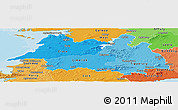Political Shades Panoramic Map of Mid West