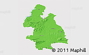 Political 3D Map of Tipperary, cropped outside
