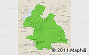 Political 3D Map of Tipperary, shaded relief outside