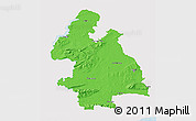 Political 3D Map of Tipperary, single color outside