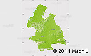 Physical Map of Tipperary, cropped outside