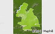 Physical Map of Tipperary, darken