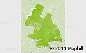 Physical Map of Tipperary, lighten