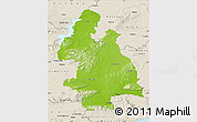 Physical Map of Tipperary, shaded relief outside