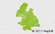 Physical Map of Tipperary, single color outside