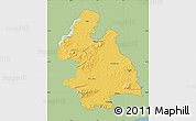 Savanna Style Map of Tipperary, single color outside