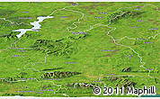 Satellite Panoramic Map of Tipperary