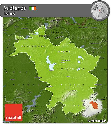 midlands ireland map