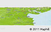 Physical Panoramic Map of Louth