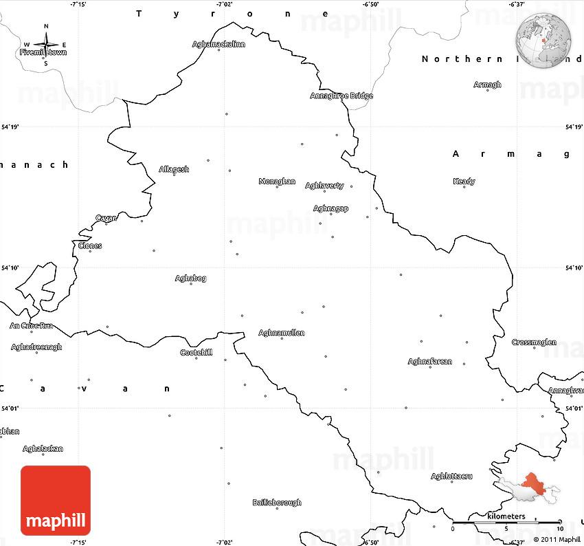Simple Site Map: Blank Simple Map Of Monaghan