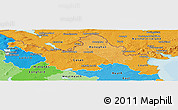 Political Shades Panoramic Map of North East