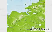 Physical Map of Sligo