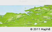 Physical Panoramic Map of Sligo