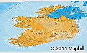 Political Shades Panoramic Map of Ireland