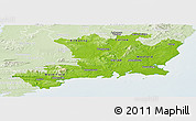 Physical Panoramic Map of South East, lighten