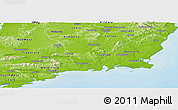 Physical Panoramic Map of South East