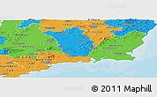 Political Panoramic Map of South East