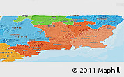Political Shades Panoramic Map of South East