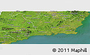 Satellite Panoramic Map of South East