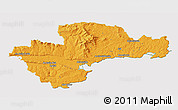 Political 3D Map of Waterford, cropped outside
