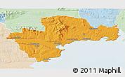 Political 3D Map of Waterford, lighten