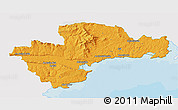 Political 3D Map of Waterford, single color outside