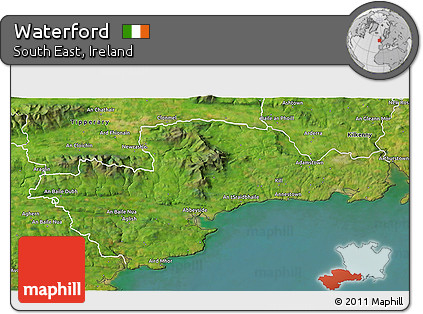 Map Of Waterford Ireland.Free Satellite 3d Map Of Waterford